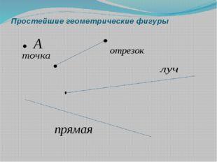 Простейшие геометрические фигуры