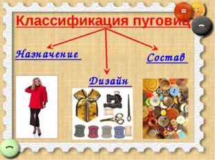 Классификация пуговиц Назначение Дизайн Состав