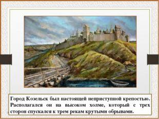 Город Козельск был настоящей неприступной крепостью. Располагался он на высок