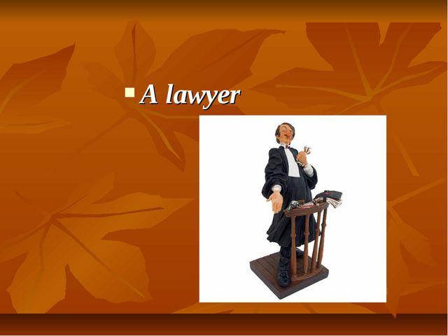 A lawyer