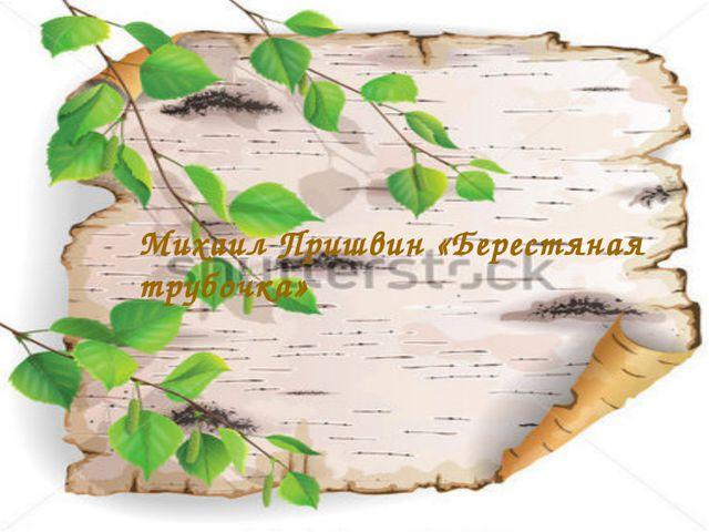 Берестяная трубочка М. М. Пришвин Михаил Пришвин «Берестяная трубочка»
