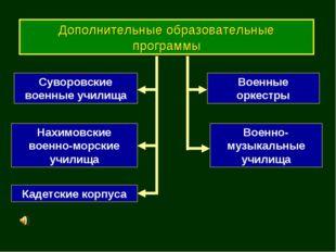 Дополнительные образовательные программы Суворовские военные училища Нахимовс