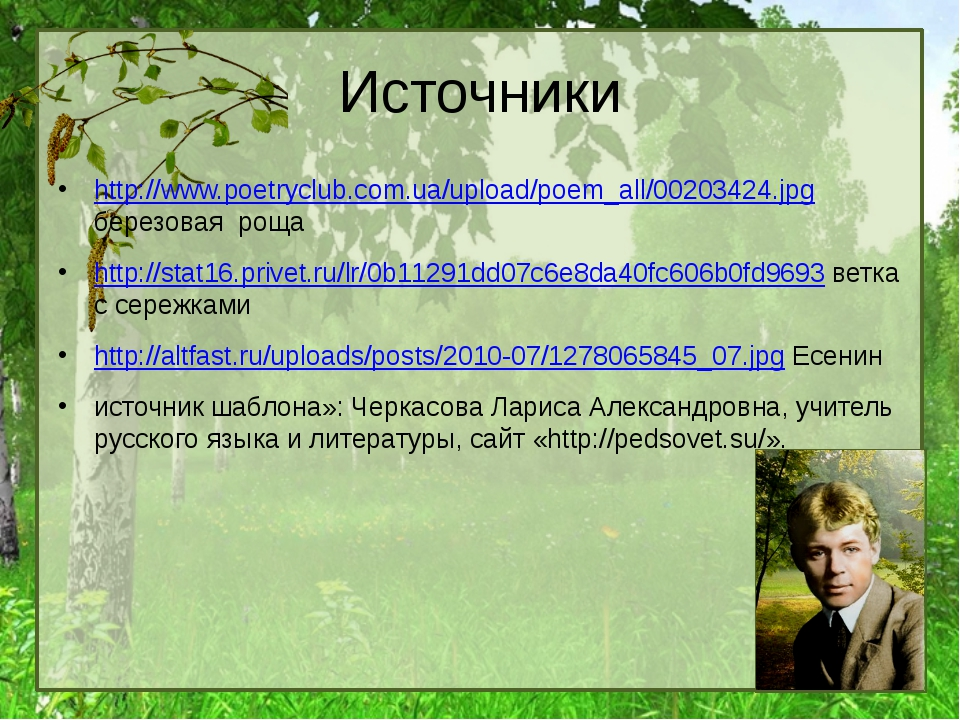 Источники http://www.poetryclub.com.ua/upload/poem_all/00203424.jpg березовая...