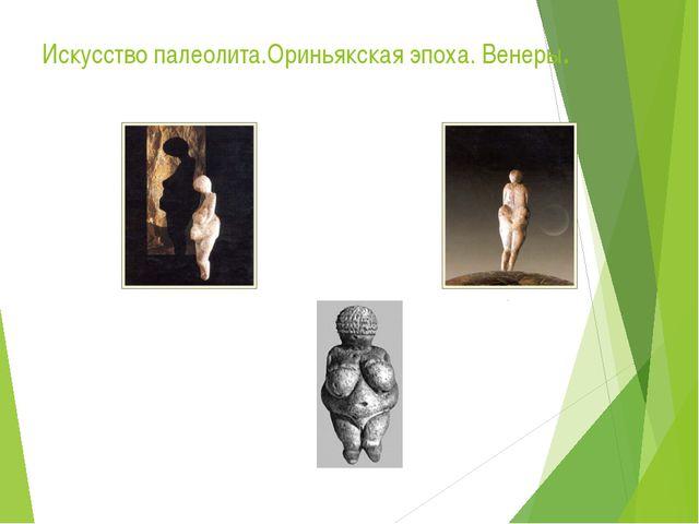 Искусство палеолита.Ориньякская эпоха. Венеры.