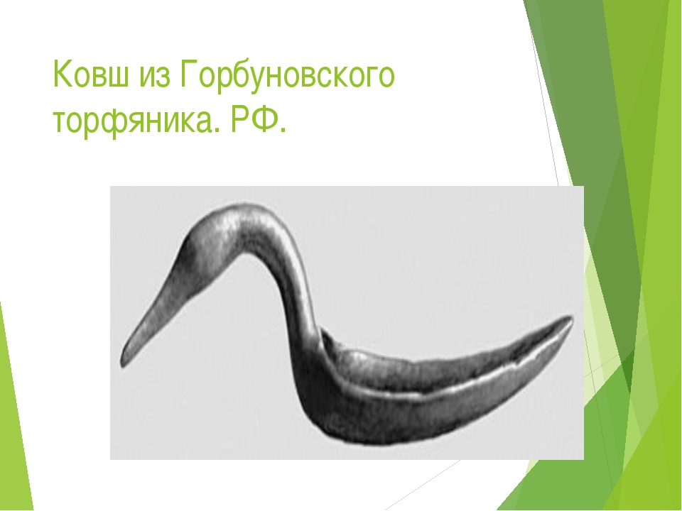 Ковш из Горбуновского торфяника. РФ.