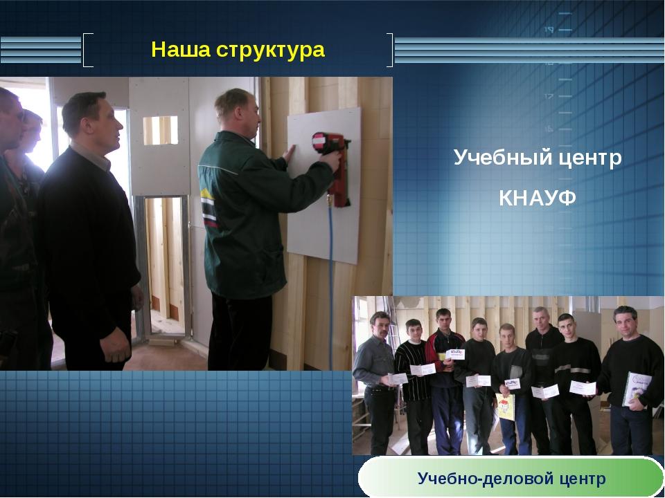Наша структура Учебно-деловой центр Учебный центр КНАУФ