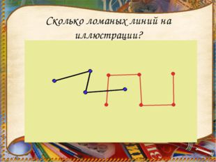 Сколько ломаных линий на иллюстрации?