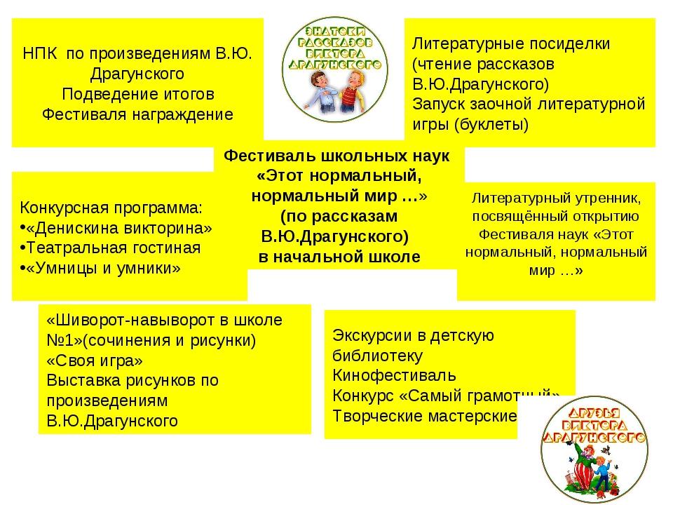 Конкурсная программа: «Денискина викторина» Театральная гостиная «Умницы и ум...