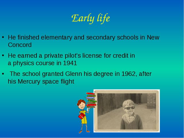Early life He finished elementary and secondary schools in New Concord He ear...
