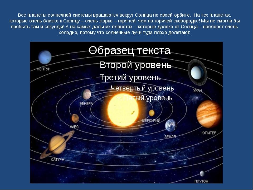 Все планеты солнечной системы вращаются вокруг Солнца по своей орбите. На тех...