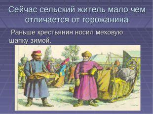 Сейчас сельский житель мало чем отличается от горожанина Раньше крестьянин но