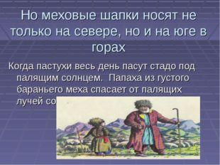 Но меховые шапки носят не только на севере, но и на юге в горах Когда пастухи