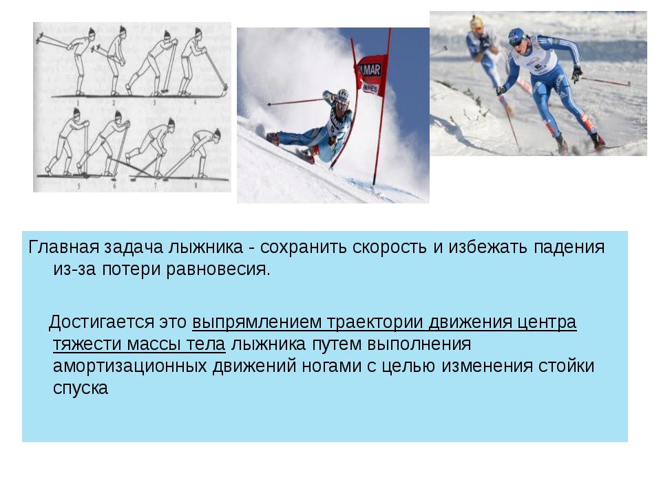 Главная задача лыжника - сохранить скорость и избежать падения из-за потери р...