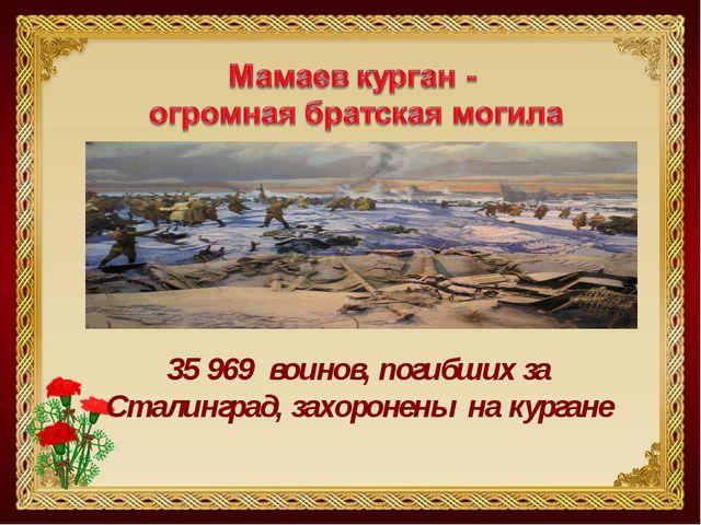 35 969 воинов, погибших за Сталинград, захоронены на кургане