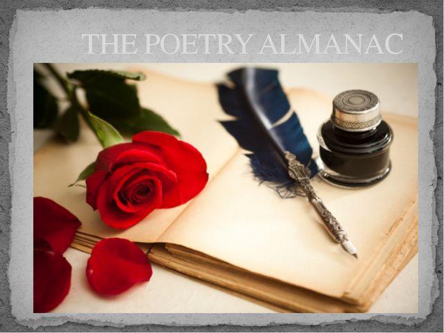 THE POETRY ALMANAC