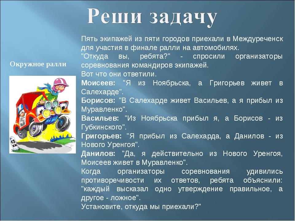 Окружное ралли Пять экипажей из пяти городов приехали в Междуреченск для учас...