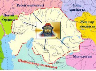 Ноғай Ордасы Сібір хандығы Моғолстан Ресей мемлекеті Шайбанилер мемлекеті Жоң