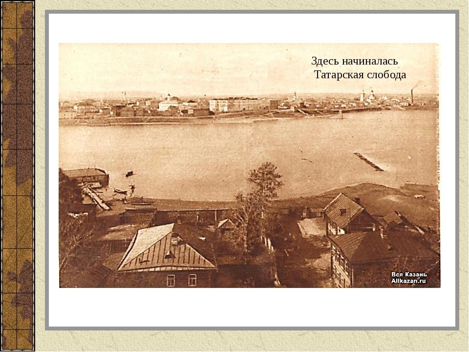 Здесь начиналась Татарская слобода