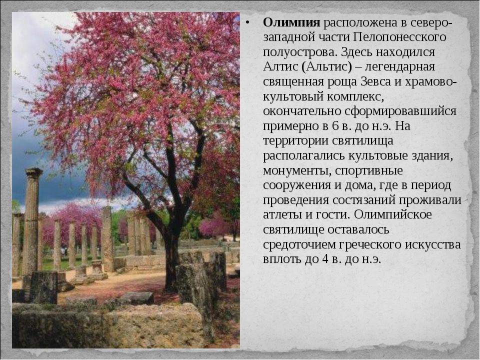 Олимпия расположена в северо-западной части Пелопонесского полуострова. Здесь...