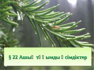 § 22 Ашық тұқымды өсімдіктер