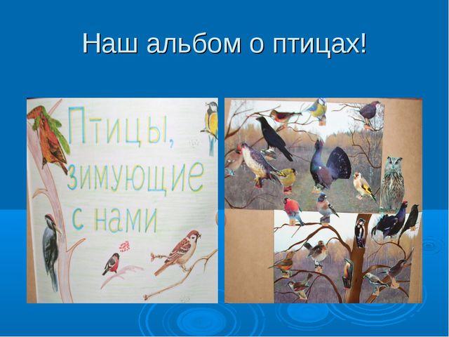 Наш альбом о птицах!
