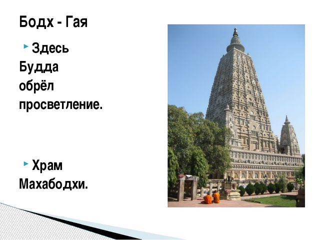Здесь Будда обрёл просветление. Храм Махабодхи. Бодх - Гая