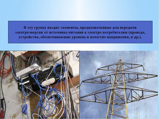 Проводники электрического тока: В эту группу входят элементы, предназначенные...