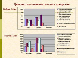 Диагностика познавательных процессов Бобров Саша Козлова Эля