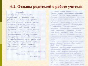 6.2. Отзывы родителей о работе учителя