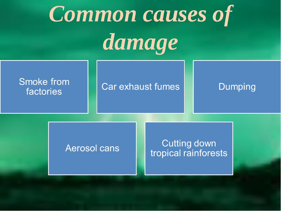Common causes of damage