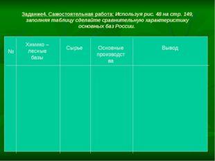 Задание4. Самостоятельная работа: Используя рис. 48 на стр. 149, заполняя таб