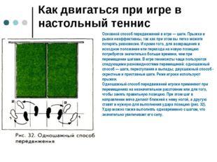 Как двигаться при игре в настольный теннис Основной способ передвижений в игр