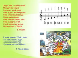 Цифра семь – особый случай: Мелодична и певуча. Это ноты к новой песне, Семь