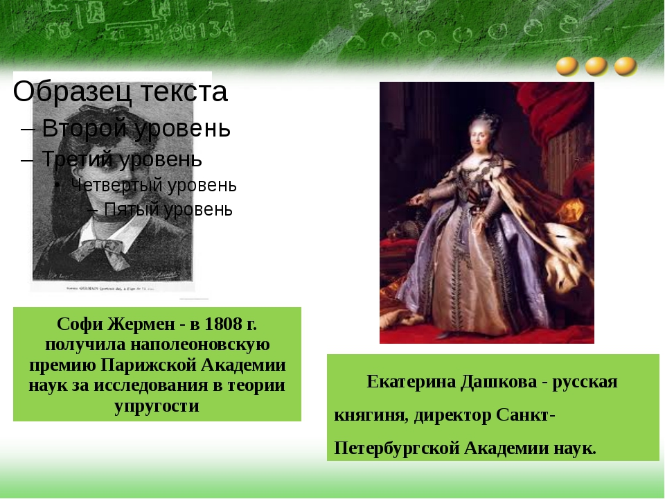 Софи Жермен - в 1808 г. получила наполеоновскую премию Парижской Академии нау...