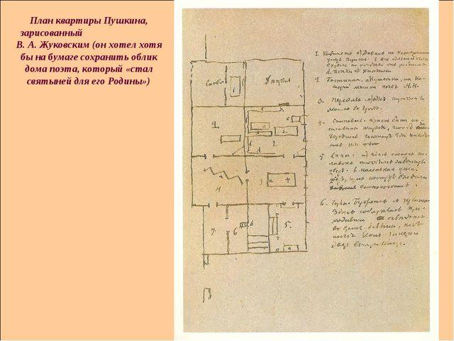 План квартиры Пушкина, зарисованный В. А. Жуковским (он хотел хотя бы на бума...