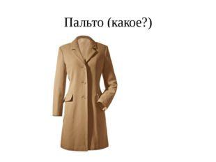 Пальто (какое?)