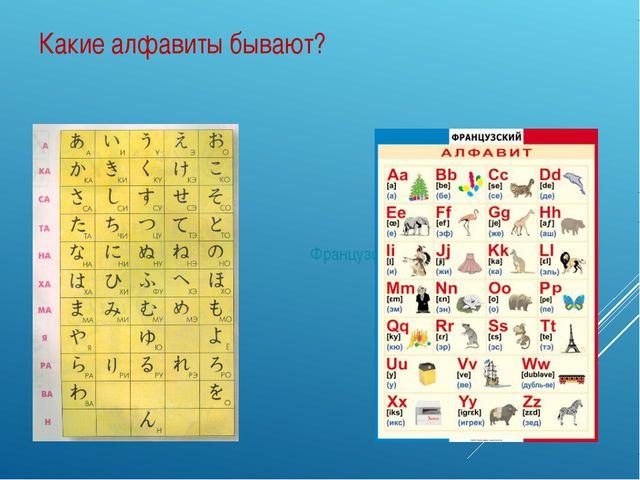 Какие алфавиты бывают? Японский Французский