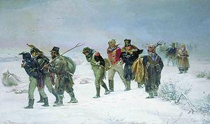 French retreat in 1812 by Pryanishnikov.jpg