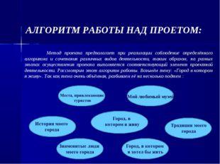 АЛГОРИТМ РАБОТЫ НАД ПРОЕТОМ: Метод проекта предполагает при реализации соблю