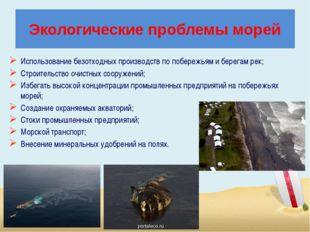 Экологические проблемы морей Использование безотходных производств по побереж