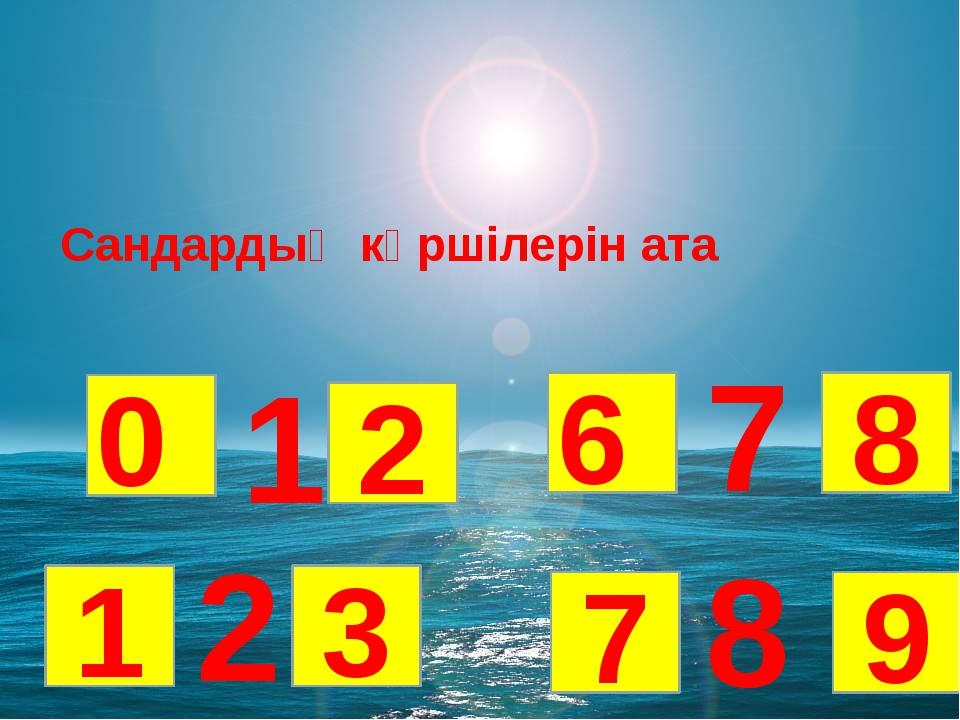 Сандардың көршілерін ата 8 2 7 1 3 7 6 8 9 0 1 2