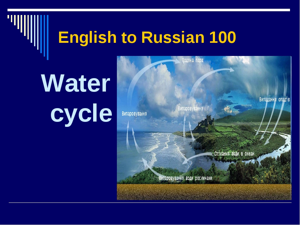 English to Russian 100 Water cycle