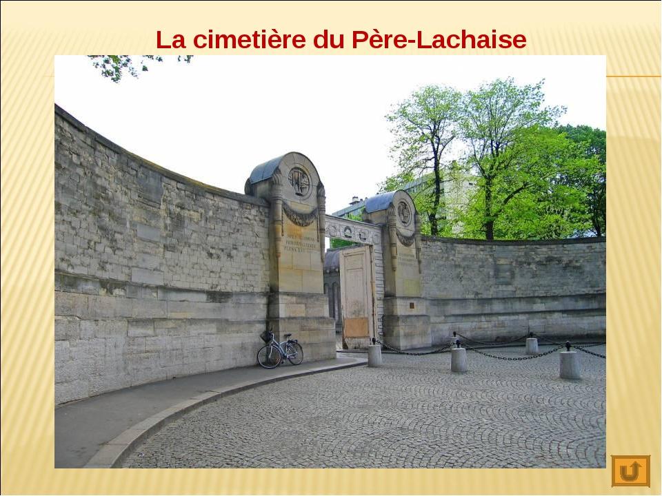 La cimetière du Père-Lachaise