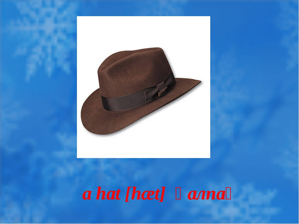 a hat [hæt] қалпақ