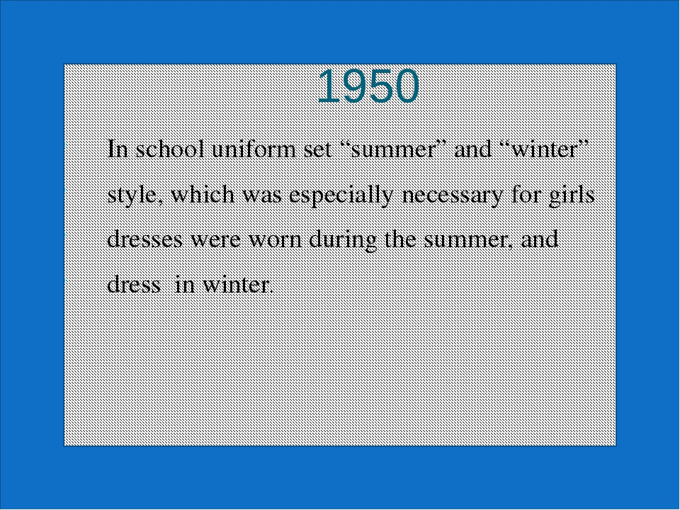 "1 1950 In school uniform set ""summer"" and ""winter"" style, which was especiall..."