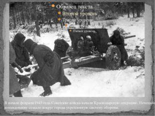 В начале февраля 1943 года Советские войска начали Краснодарскую операцию. Н