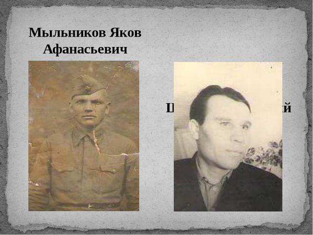 Мыльников Яков Афанасьевич Шестаков Дмитрий Андреевич