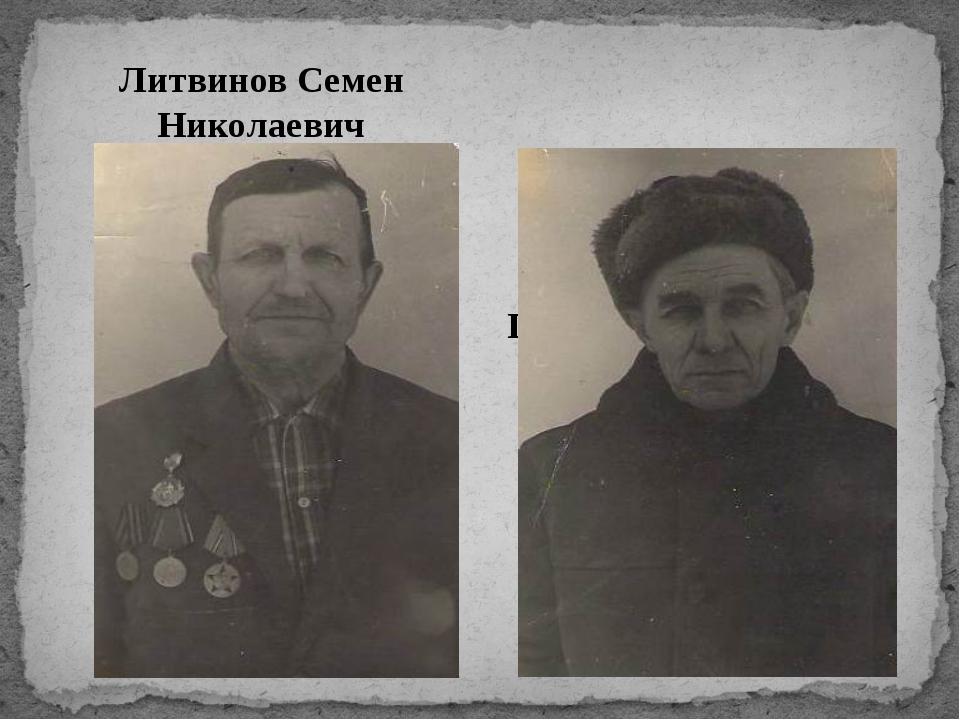 Литвинов Семен Николаевич Пархоменко Владимир Орестович