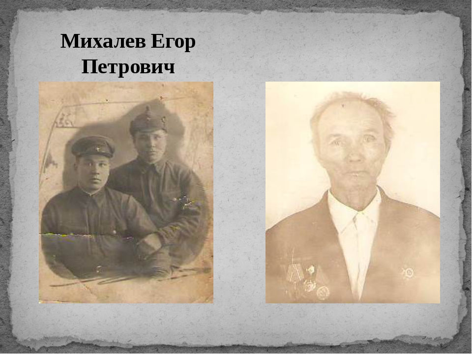 Михалев Егор Петрович Михалев Егор Петрович