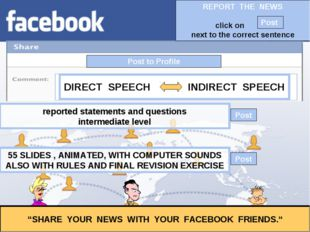 """Post to Profile """"SHARE YOUR NEWS WITH YOUR FACEBOOK FRIENDS."""" reported statem"""